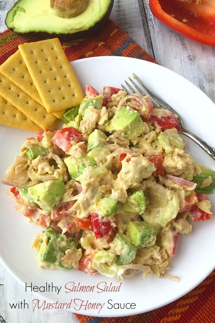 Healthy Salmon Salad  Healthy Salmon Salad With Mustard Honey Sauce Lavender
