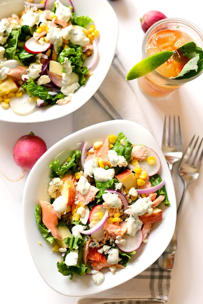 Healthy Salmon Salad  Easy Salmon Salad with Greek Yogurt Dill Dressing Fit
