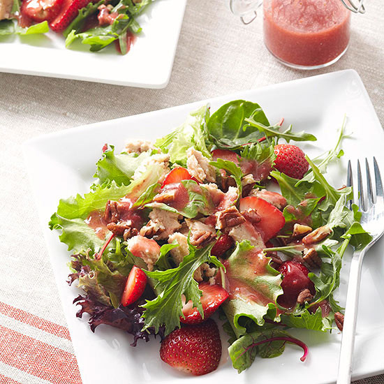 Healthy Salmon Salad  Salmon Salad with Strawberry Vinaigrette