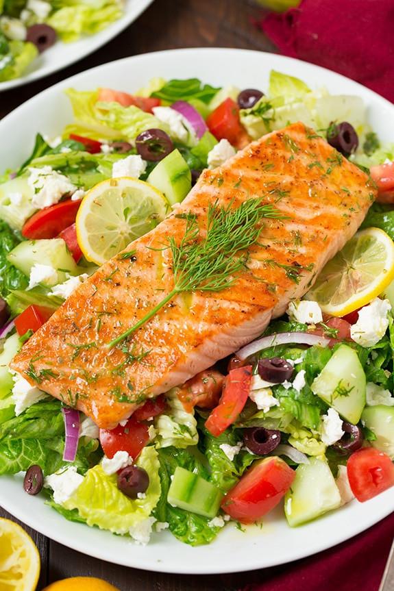 Healthy Salmon Salad  Greek Salmon Salad Cooking Classy