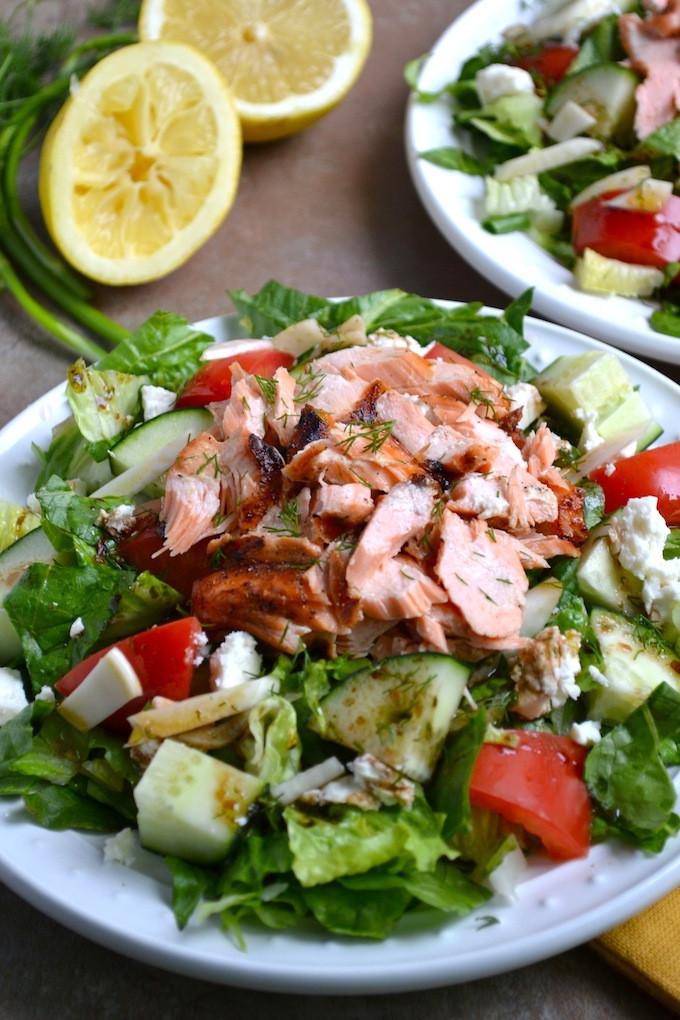 Healthy Salmon Salad  Greek Salmon Salad Stuck Sweet
