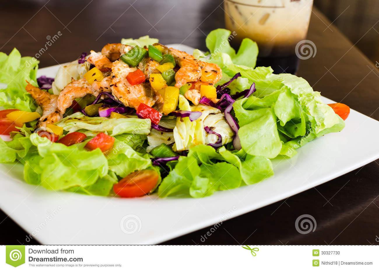 Healthy Salmon Salad  Salmon salad stock photo Image of delicious light fresh