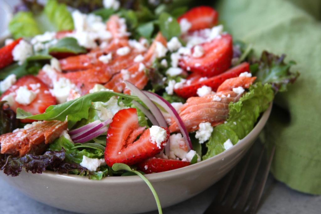 Healthy Salmon Salad  Simple Strawberry Salmon Salad The Fed Up Foo