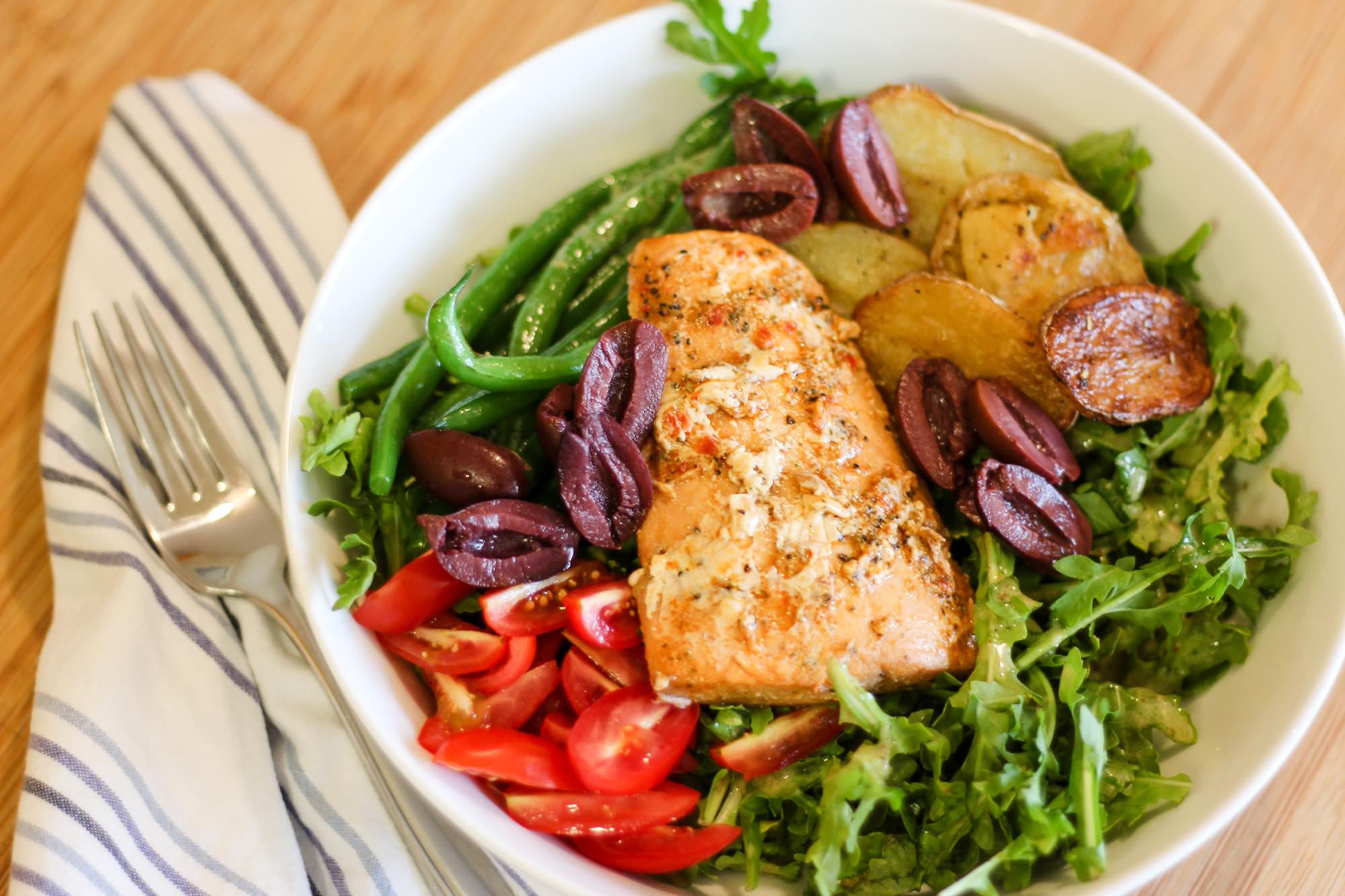 Healthy Salmon Salad  Healthy Salmon Niçoise Salad