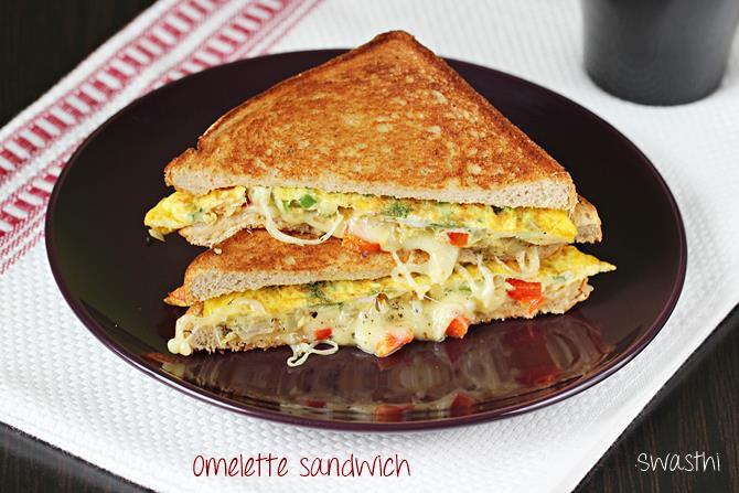 Healthy Sandwich Bread Recipe  Bread omelet recipe