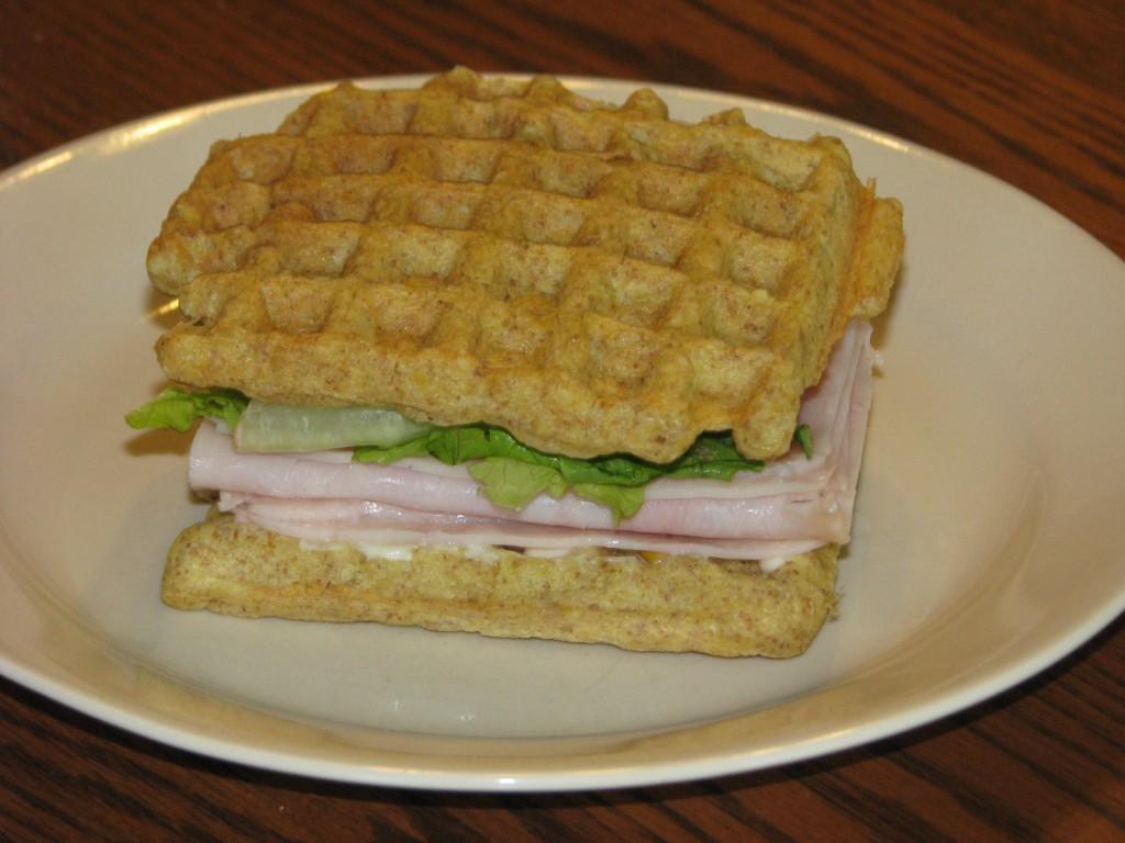 "Healthy Sandwich Bread Recipe  Trim Healthy Mama Waffle Bread for Great Sandwiches ""S"