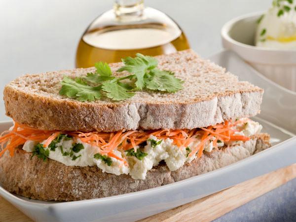 Healthy Sandwich Bread Recipe  Weight Loss Low fat Dinner Ideas Boldsky