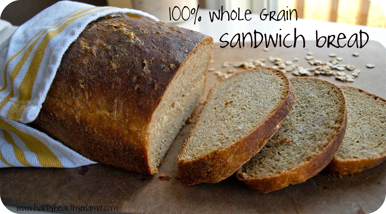 Healthy Sandwich Bread  New year s resolution master homemade sandwich bread