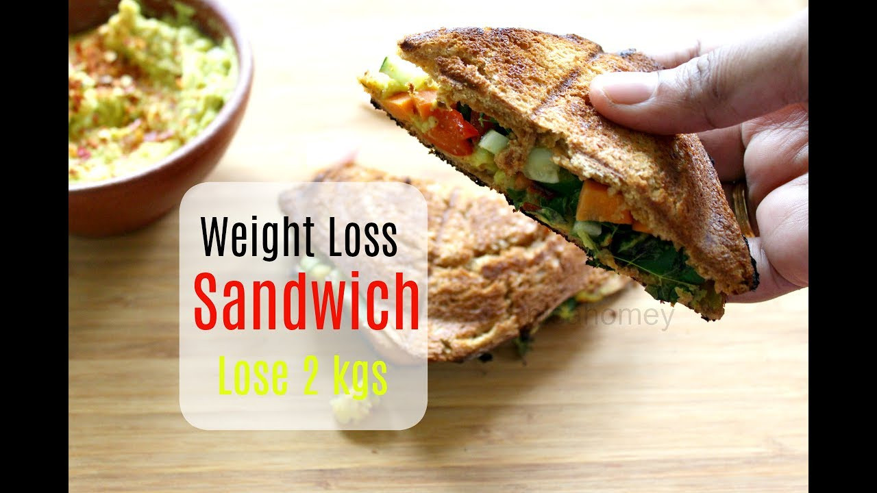 Healthy Sandwich Recipes For Weight Loss  Lose 2 kgs In A Week Weight Loss Veg Sandwich Healthy