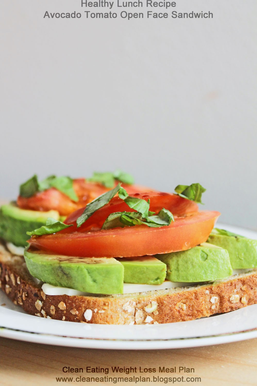 Healthy Sandwich Recipes For Weight Loss  Healthy Lunch Recipe Avocado Tomato Open Face Sandwich