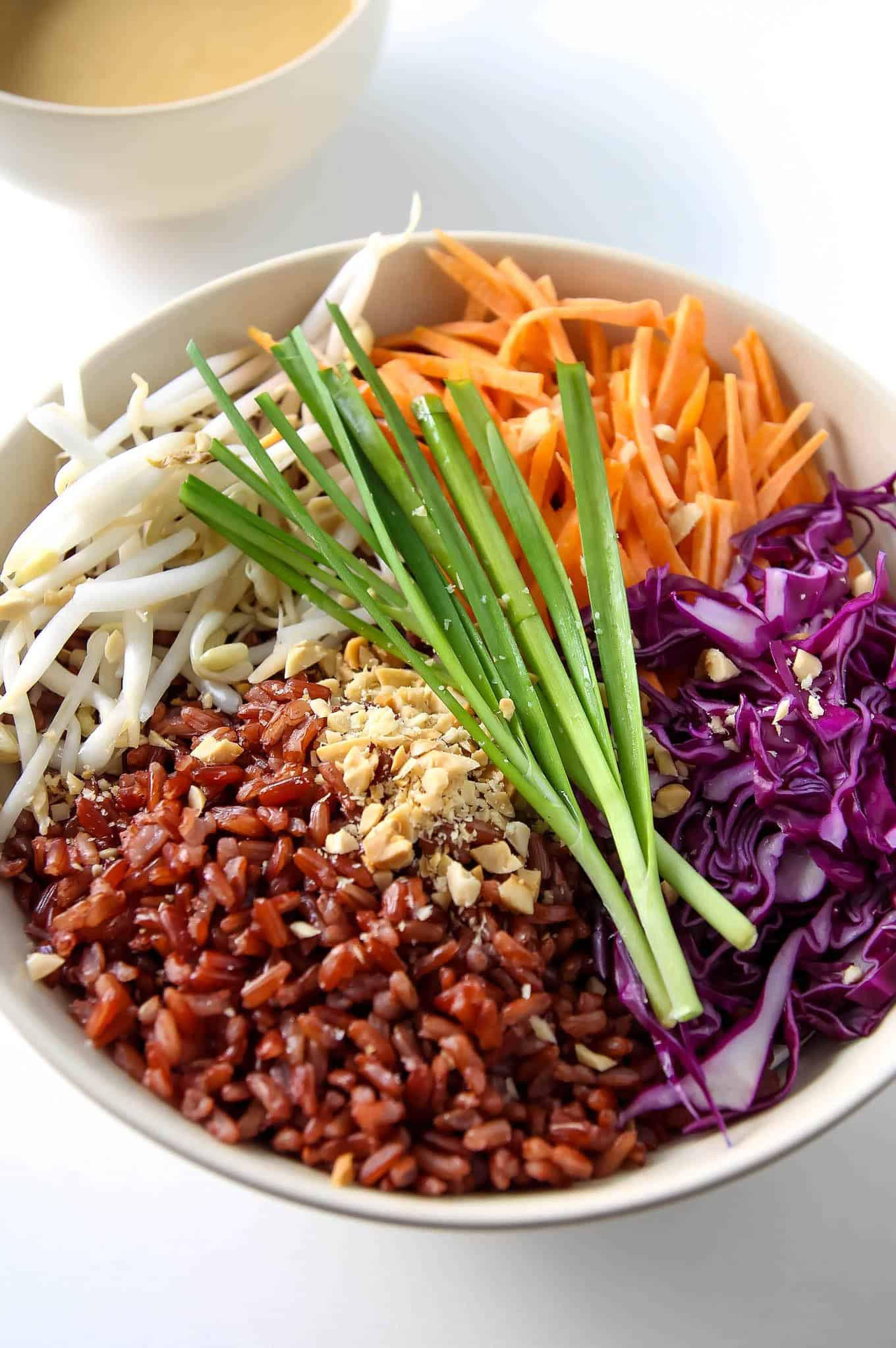 Healthy Sauces For Rice  Thai Buddha Bowl with Peanut Sauce VIDEO • LeelaLicious