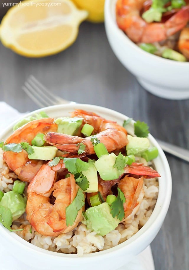 Healthy Sauces For Rice  Healthy Brown Rice Bowl with Shrimp & Avocado $500