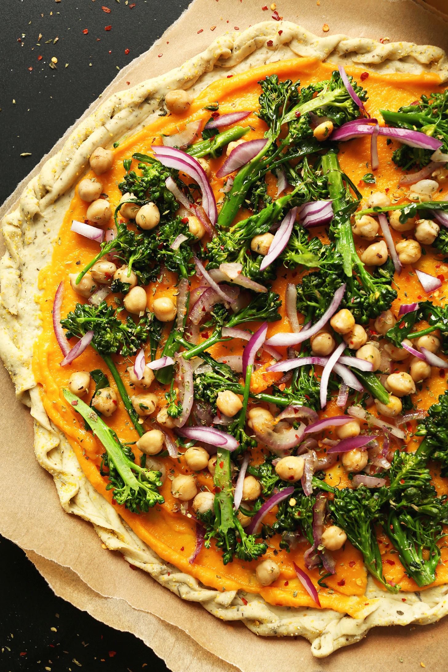 Healthy Sauces For Vegetables  Butternut Squash Veggie Pizza