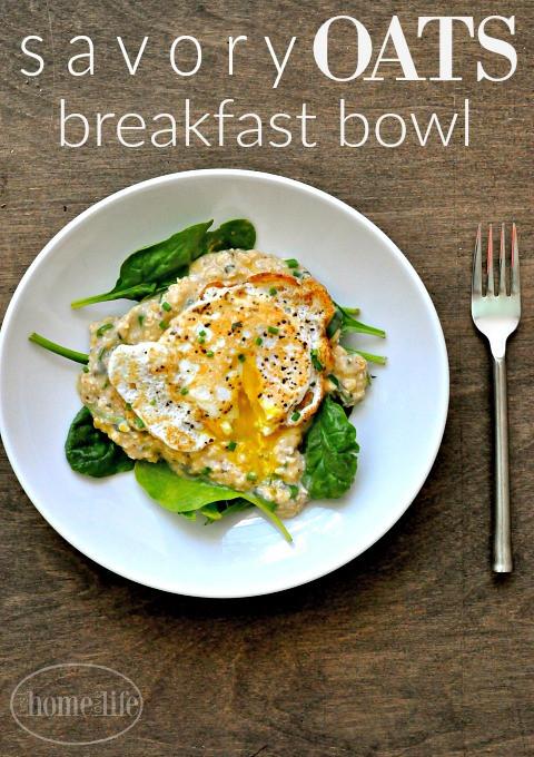 Healthy Savory Breakfast  Healthy Breakfast Idea Savory Oats First Home Love Life