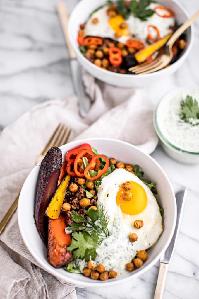 Healthy Savory Breakfast  Healthy Turkish Breakfast Bowls with Herbed Yogurt Gluten