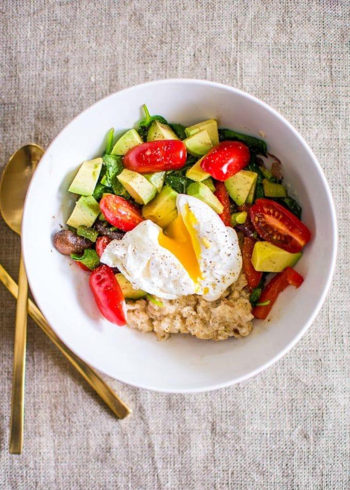 Healthy Savory Breakfast  Savory Oatmeal Breakfast Bowls