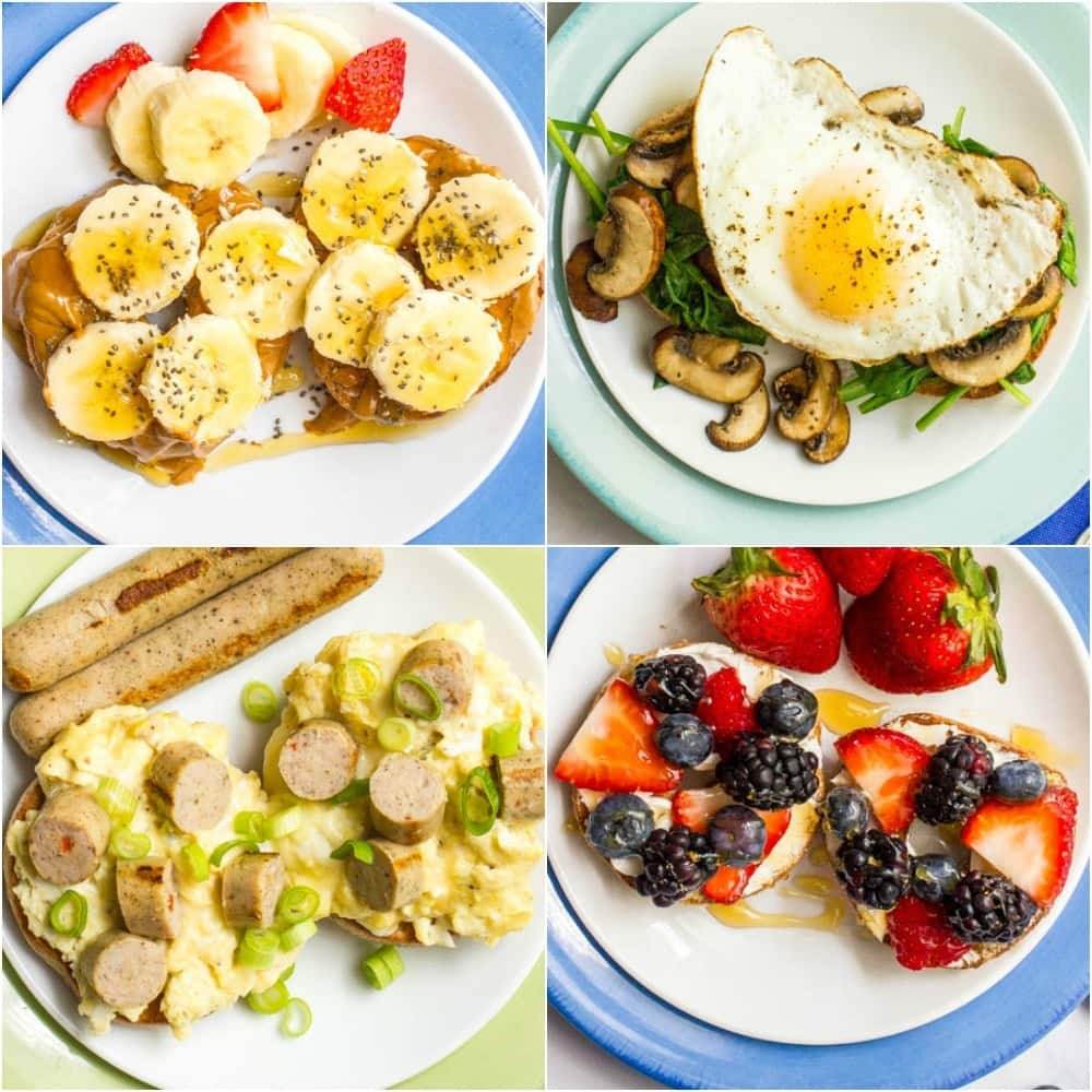 Healthy Savory Breakfast  Healthy bagel toppings 4 ways Family Food on the Table