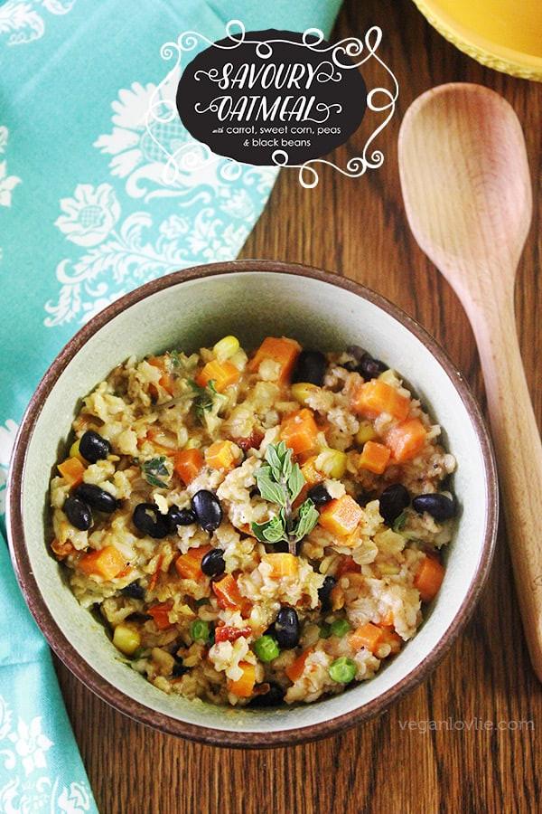 Healthy Savory Breakfast  Savoury Oatmeal