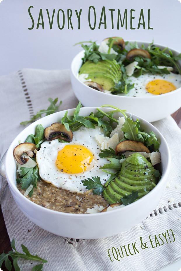Healthy Savory Breakfast  Savory Oatmeal Recipe