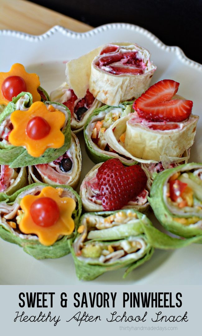 Healthy Savory Snacks  Sweet & Savory Pinwheels Healthy After School Snack