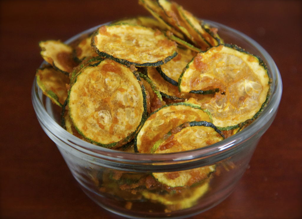 Healthy Savory Snacks  Savory Garlic Cumin Zucchini Chips Just Glowing with Health