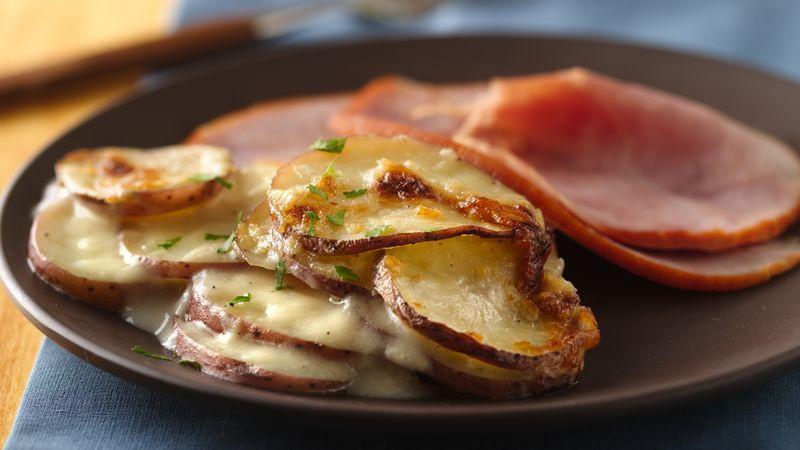 Healthy Scalloped Potatoes And Ham  Scalloped Potatoes Recipe BettyCrocker