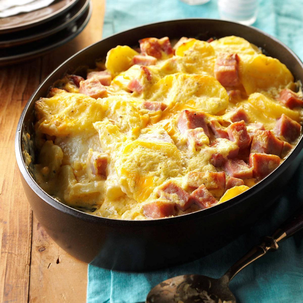 Healthy Scalloped Potatoes And Ham  Cheesy Scalloped Potatoes & Ham Recipe