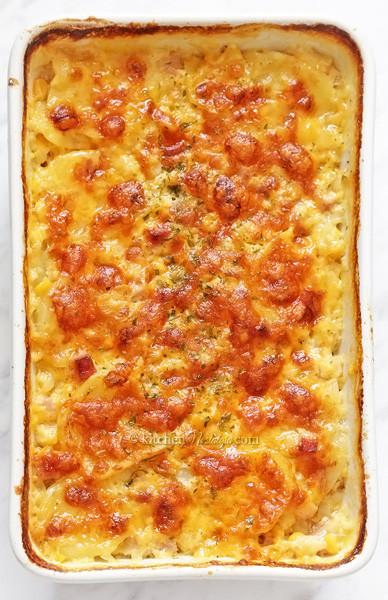 Healthy Scalloped Potatoes And Ham  Scalloped Potato and Ham Recipe