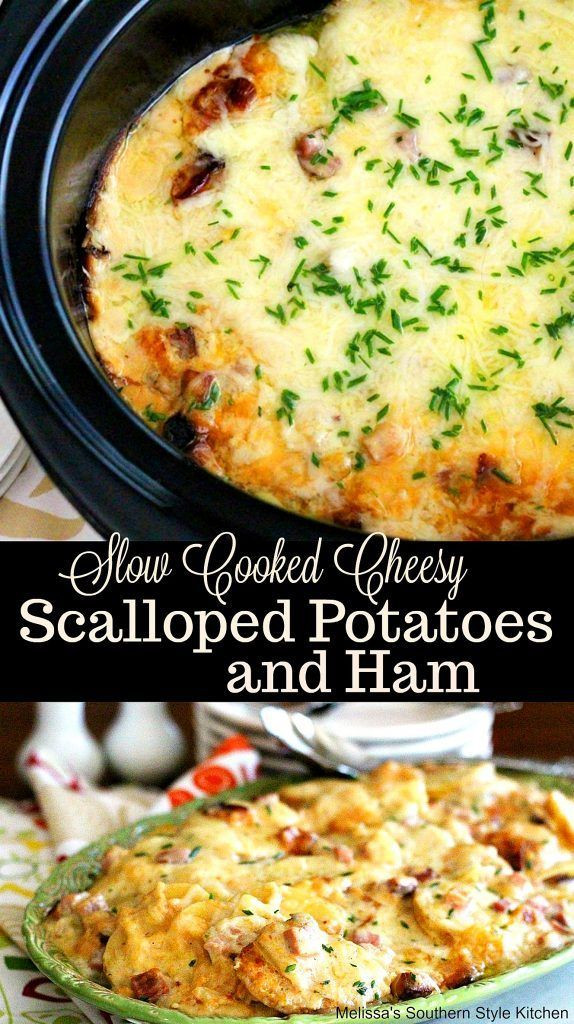 Healthy Scalloped Potatoes And Ham  4241 best Slow Cooker Favorites images on Pinterest