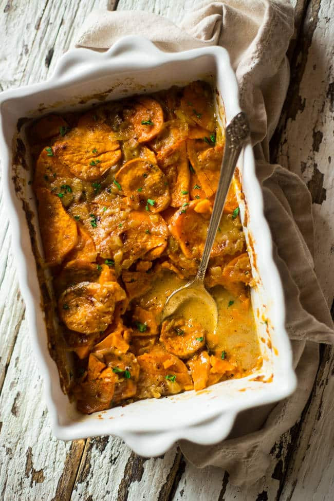 Healthy Scalloped Sweet Potatoes  Scalloped Sweet Potatoes Paleo Vegan
