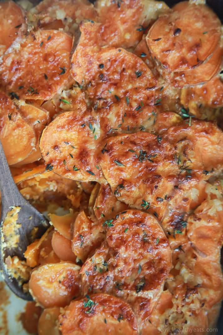 Healthy Scalloped Sweet Potatoes  Cheesy Scalloped Sweet Potatoes Casserole