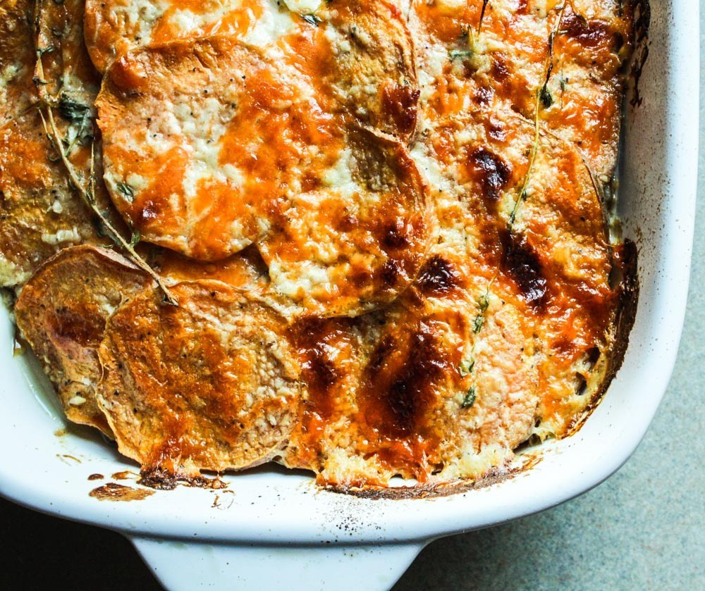 Healthy Scalloped Sweet Potatoes  Scalloped Sweet Potatoes Lisa G Cooks