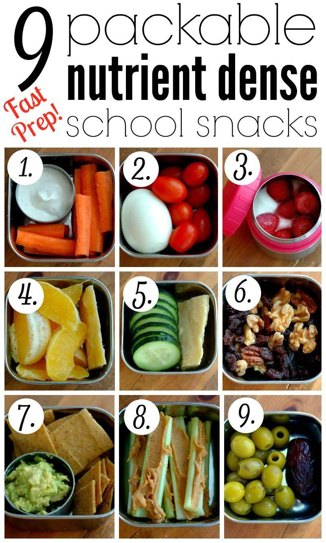 Healthy School Snacks For Kids  9 Packable Nutrient Dense School Snacks