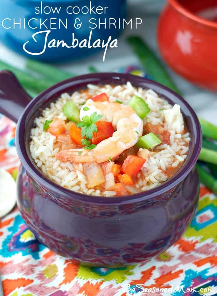 Healthy Seafood Slow Cooker Recipes  Slow Cooker Chicken and Shrimp Jambalaya The Seasoned Mom