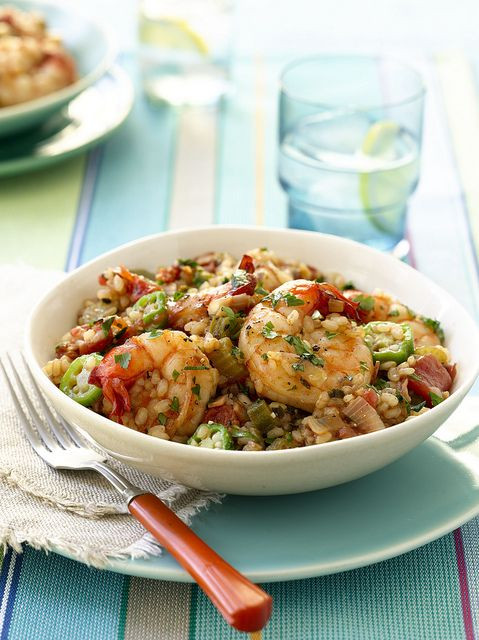 Healthy Seafood Slow Cooker Recipes  Shrimp Jambalaya recipe from the American Heart