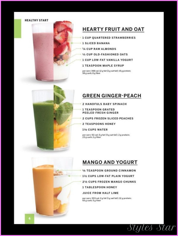 Healthy Shake Recipes For Weight Loss  Healthy Smoothie Recipes To Lose Weight