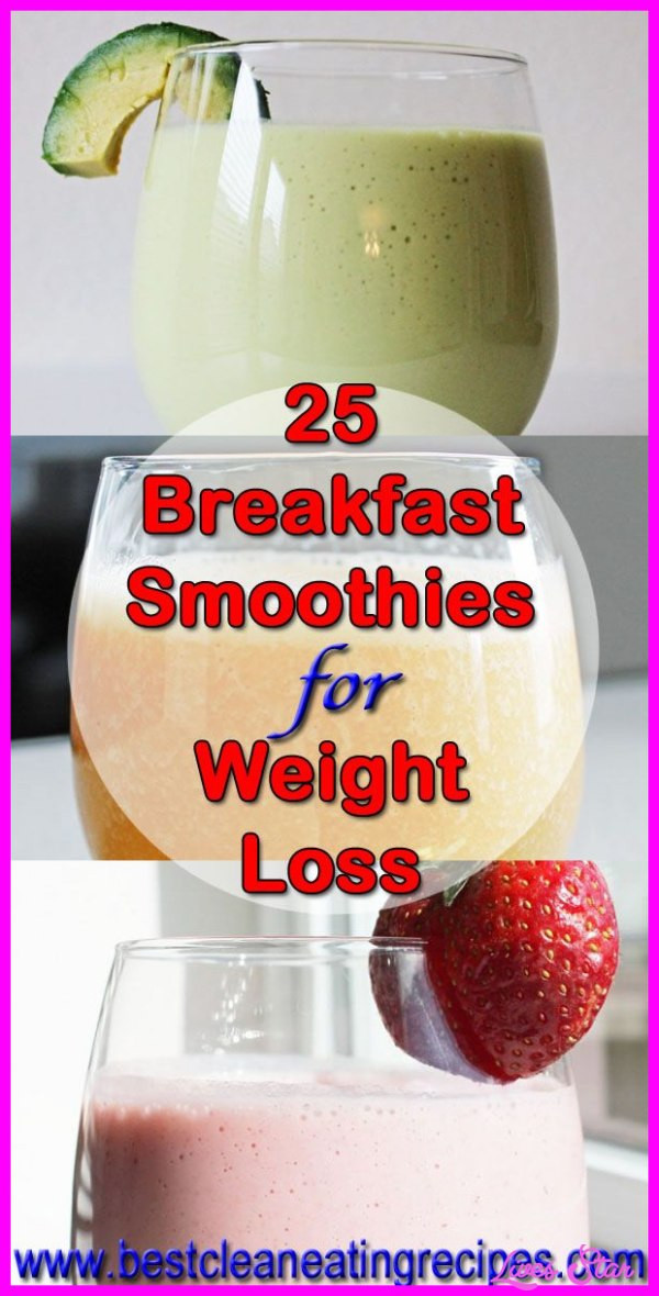 Healthy Shake Recipes For Weight Loss  Healthy Breakfast Shakes To Lose Weight Recipes