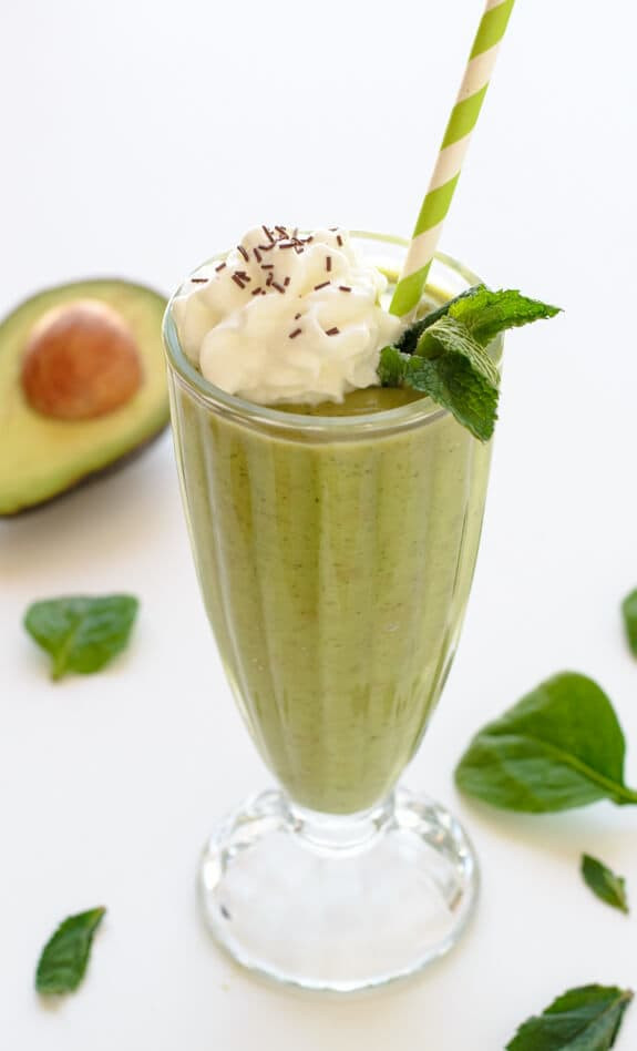 Healthy Shakes And Smoothies  Mint Smoothie Healthy Copycat Shamrock Shake