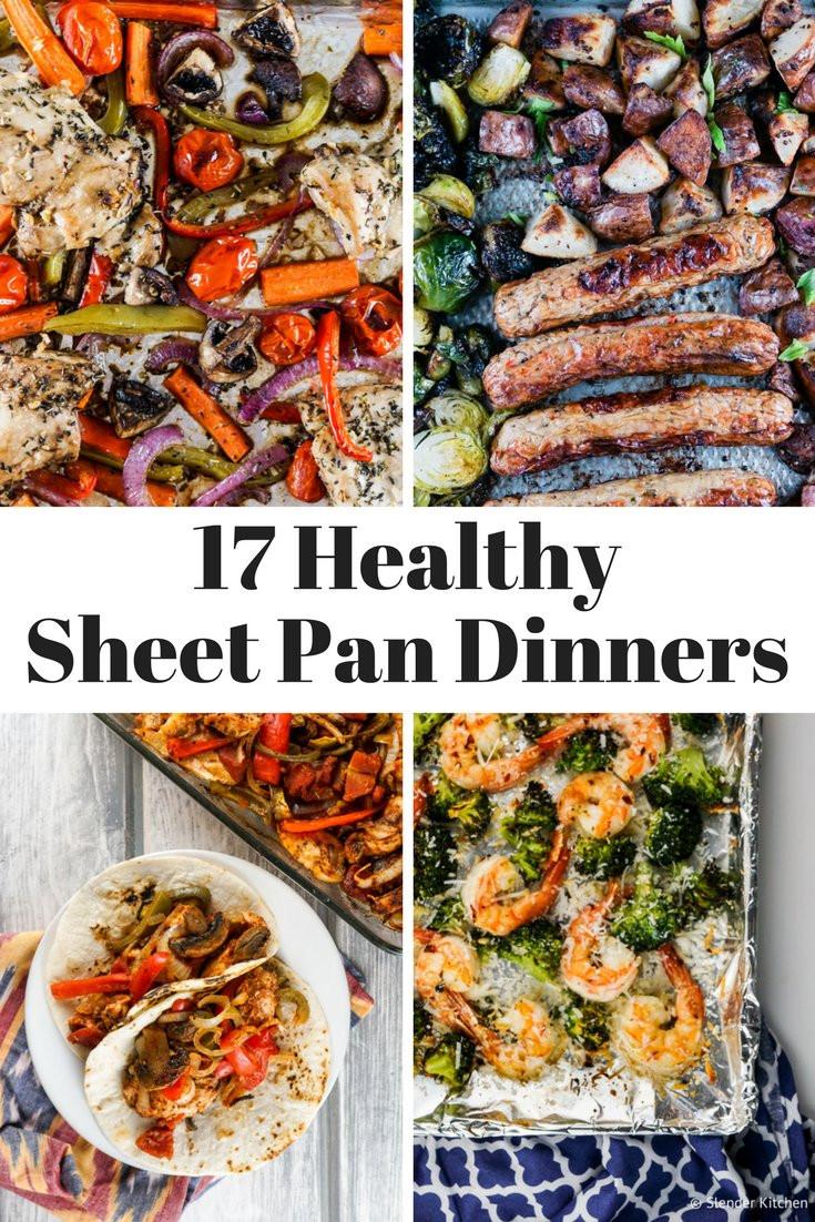 Healthy Sheet Pan Dinners  Seventeen Healthy Sheet Pan Dinners Slender Kitchen