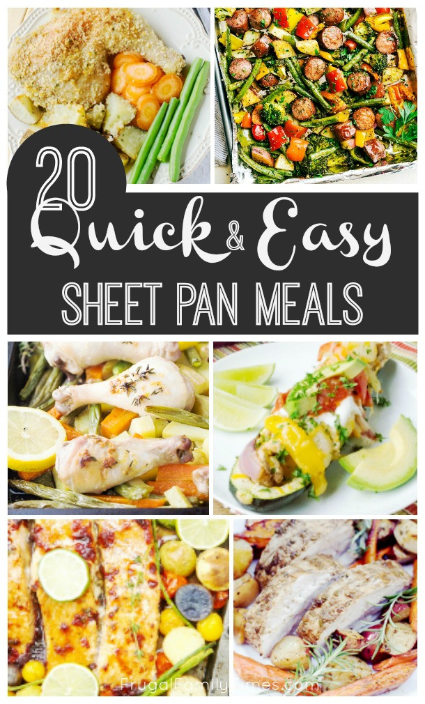 Healthy Sheet Pan Dinners  20 Quick Healthy and Easy Sheet Pan Dinners