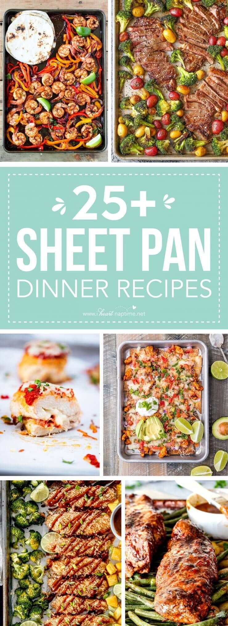 Healthy Sheet Pan Dinners  25 Delicious Sheet Pan Dinner Recipes I Heart Nap Time