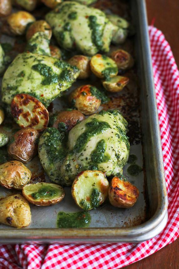 Healthy Sheet Pan Dinners  Chimichurri Chicken & Potato Sheet Pan Meal Recipe
