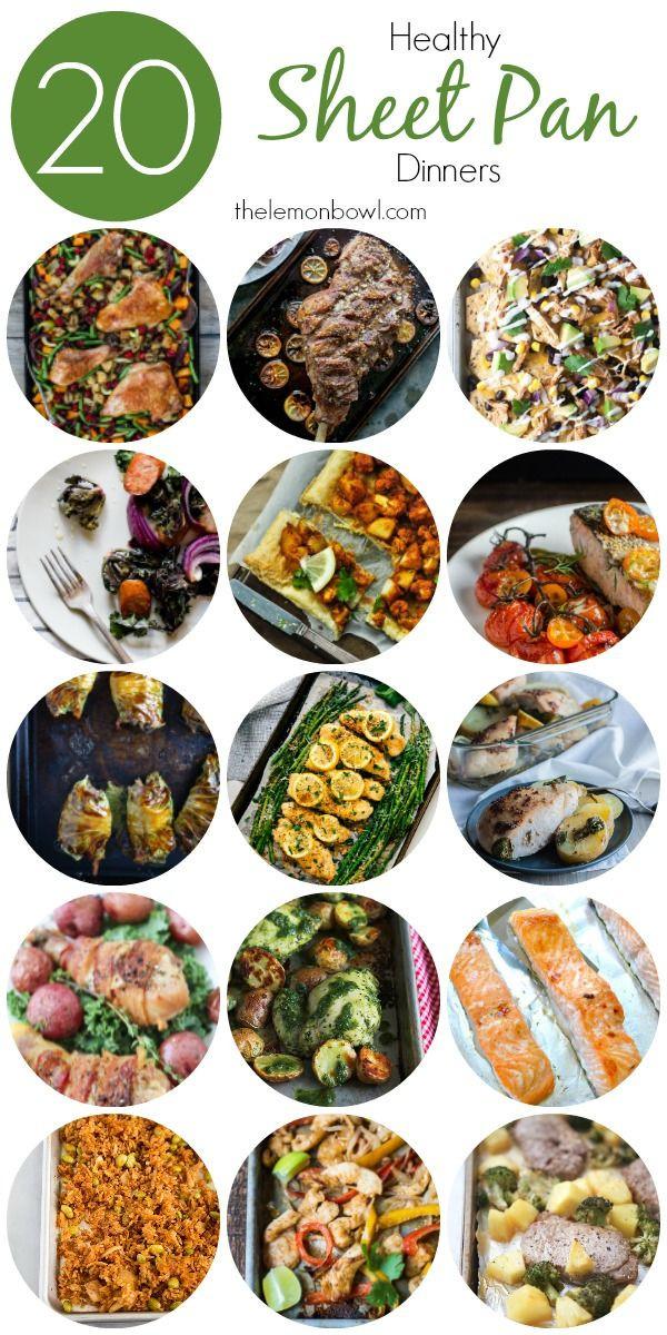 Healthy Sheet Pan Dinners  20 Healthy Sheet Pan Dinners Recipes