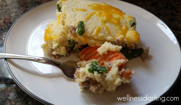 Healthy Shepherd'S Pie With Cauliflower  Healthy Cauliflower Shepherd s Pie Wellness Darling