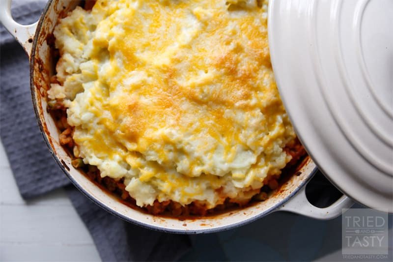 Healthy Shepherd'S Pie With Cauliflower  Mashed Cauliflower Shepherd s Pie VIDEO Tried and Tasty