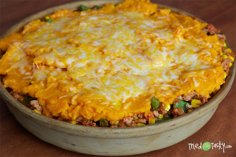 Healthy Shepherd'S Pie With Sweet Potato  Healthy Sweet Potato Shepherd s Pie Tried and Tasty
