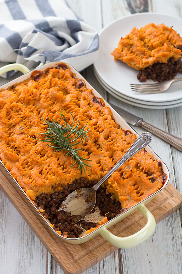 Healthy Shepherd'S Pie With Sweet Potato  Vegan Shepherd s Pie With Sweet Potatoes The Healthy Tart