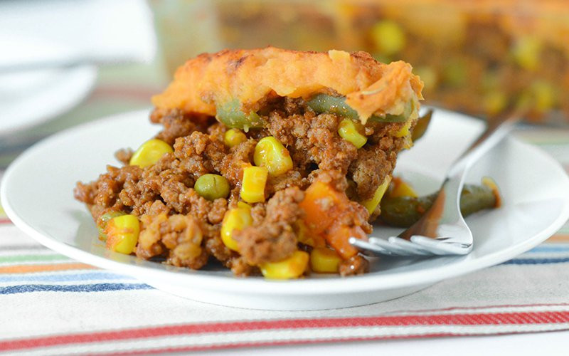 Healthy Shepherd'S Pie With Sweet Potato  Protein Packed Sweet Potato Shepherds Pie