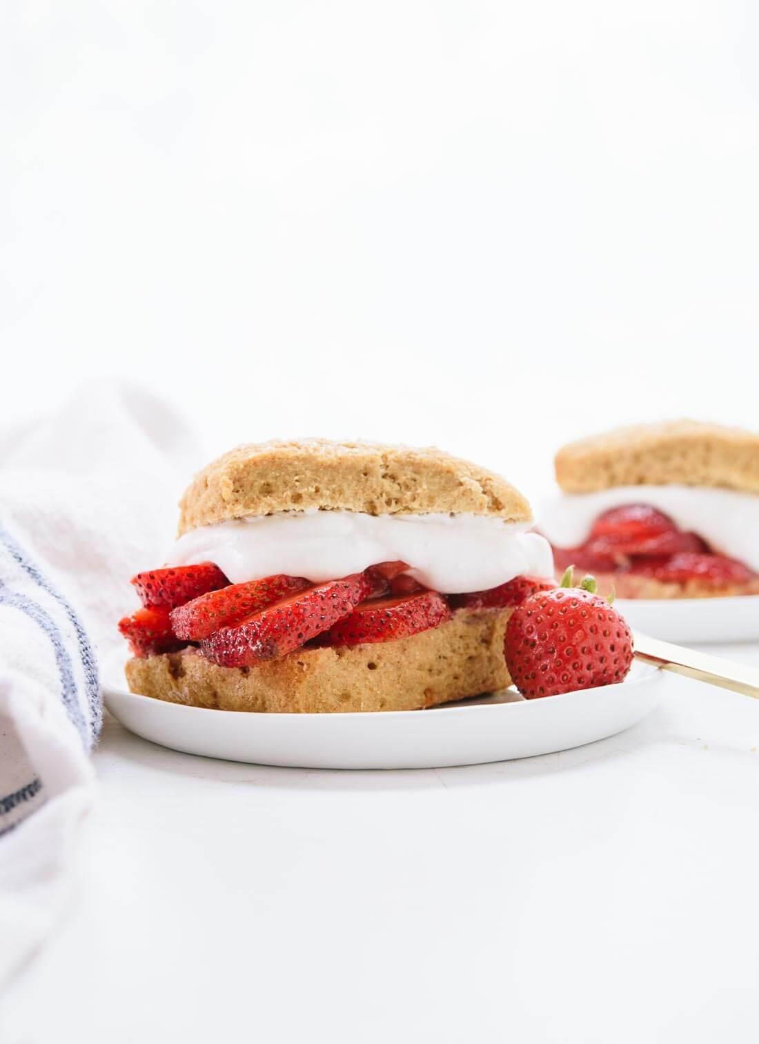 Healthy Shortcake Recipe  healthy strawberry shortcake