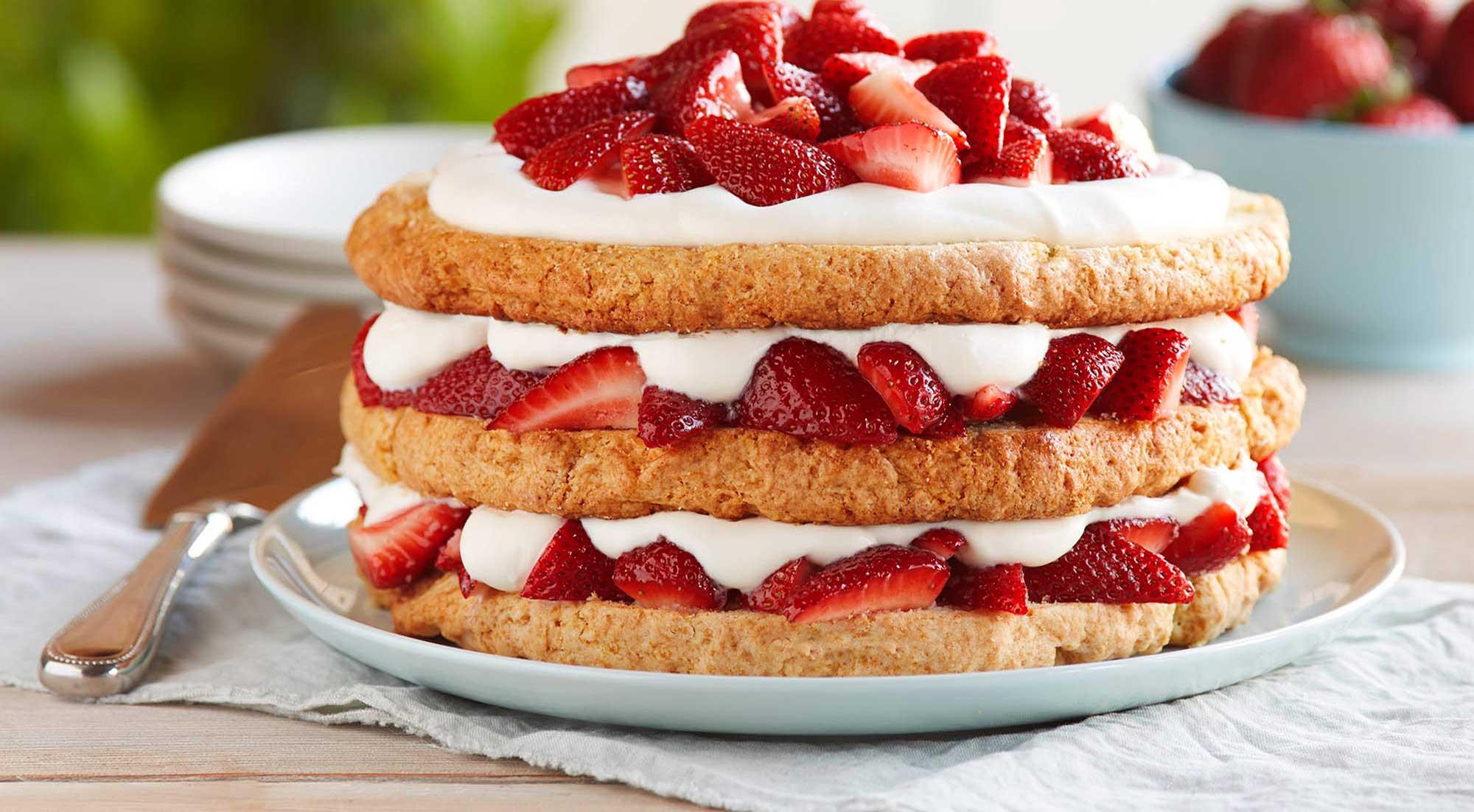 Healthy Shortcake Recipe  Classic Strawberry Shortcake Recipe